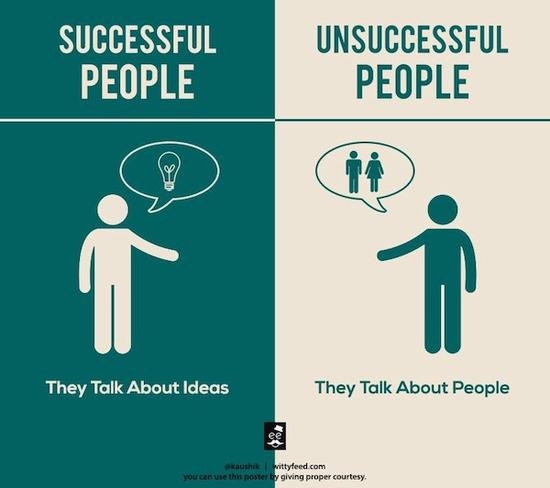 Successful people: They talk about ideas.