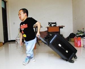 武东钵说这个上大学的行李箱买大了
