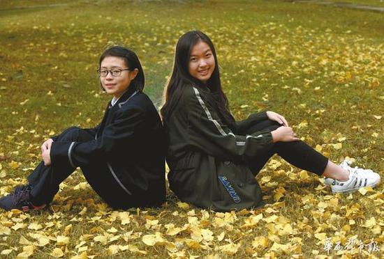 唐煜晨(左)和王怡茜。