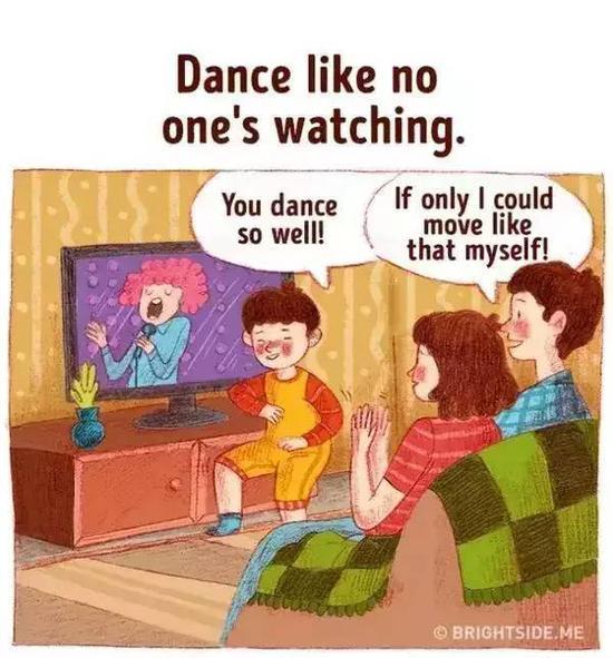 孩子可以随时随地跳舞