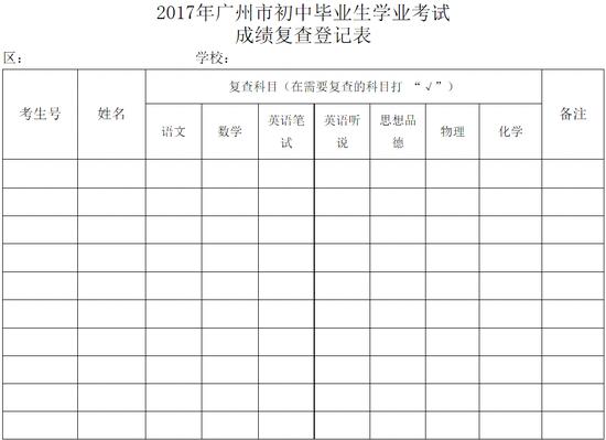 广州2017年中考做法7月7日12时公布视频成绩冰炒教程图片