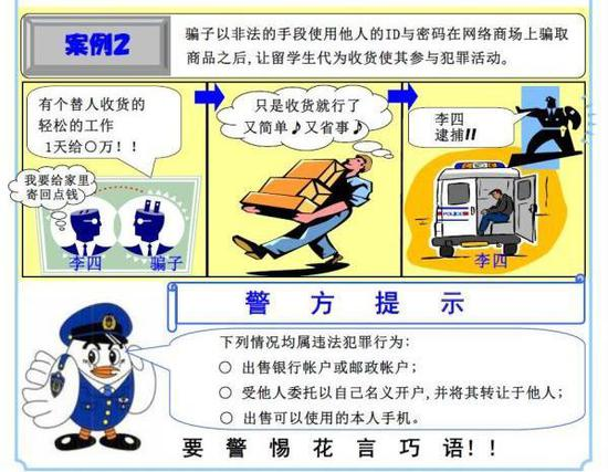 日本警方制作的谨防落入犯罪陷阱的宣传海报。