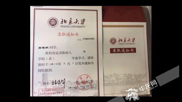 高楚桐今年顺利考入北京大学。资料图片