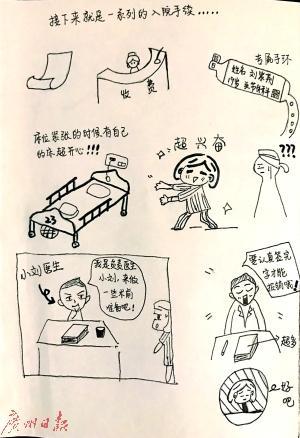 大二女生手绘漫画谢医护 满是温馨幽默