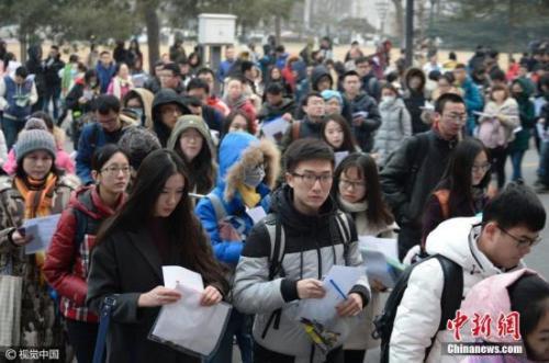 考试参加全国硕士研究生招生考试(资料图)。 图片来源:视觉中国