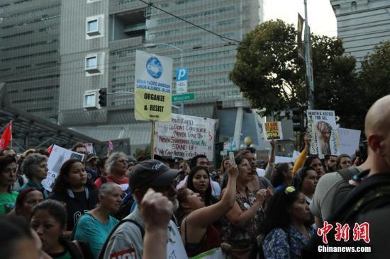 资料图:美国民众示威游行反对特朗普废除DACA移民计划。 中新社记者 刘丹 摄