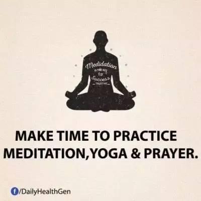 19. 花点时间去冥想,练练瑜伽或是祷告。
