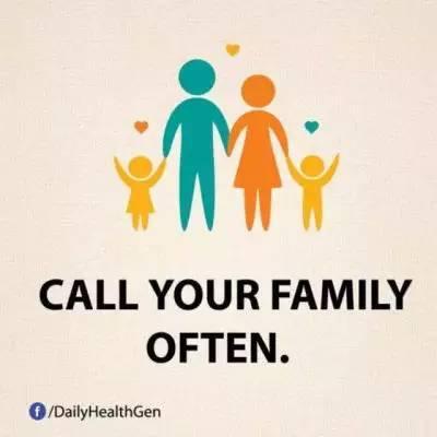 17. 也别忘记:时常打电话给你的家人。