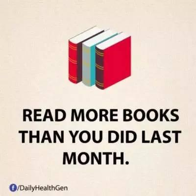 13. 让自己每个月的阅读量都比上个月高。