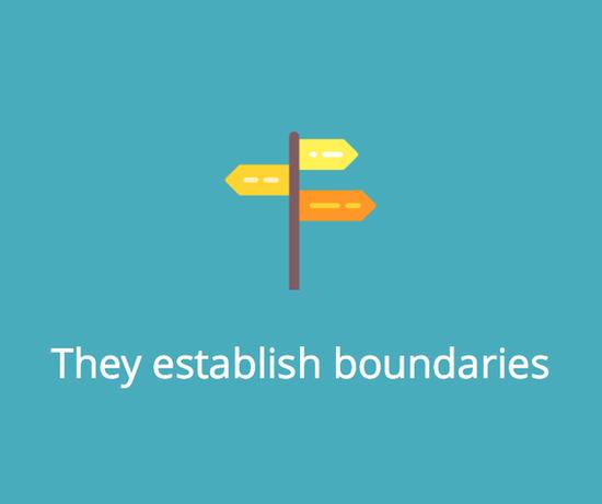They establish boundaries.