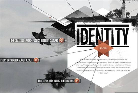 SBS在线团队针对2005年悉尼克罗诺拉骚乱制作的交互页面
