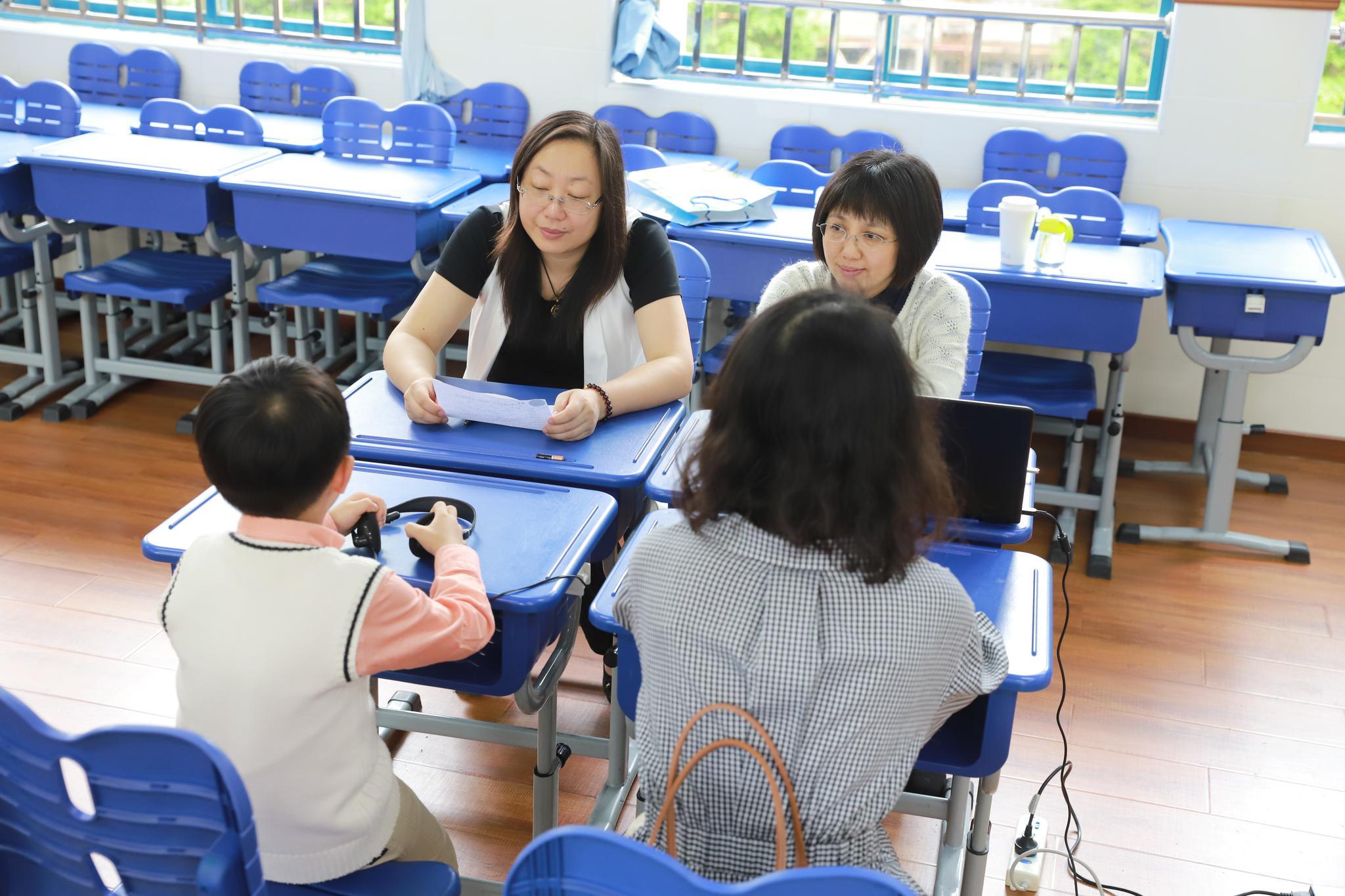 民辦打一外國語小學面談現場,學校供圖