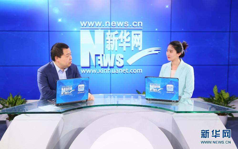 图为问吧科技创始人兼CEO接受新华网专访 孙广见摄