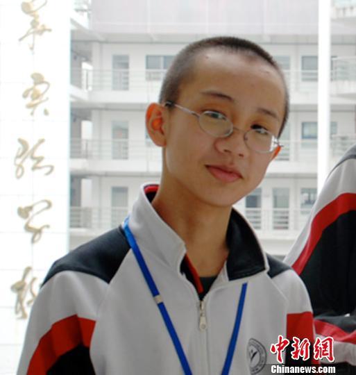 图为曾在深圳耀华实验学校就读的中学生曹原。(资料图) 陈文 摄