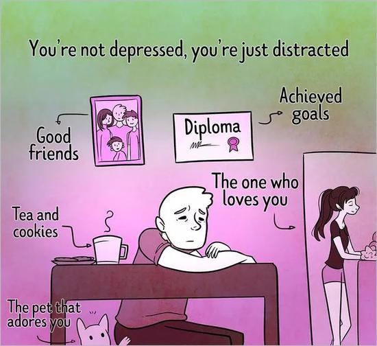 你并不抑郁,只是分心