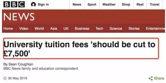 据BBC报道,英国政府拟降低大学学费,在2021/22学年起学费有望降低至£7,500。