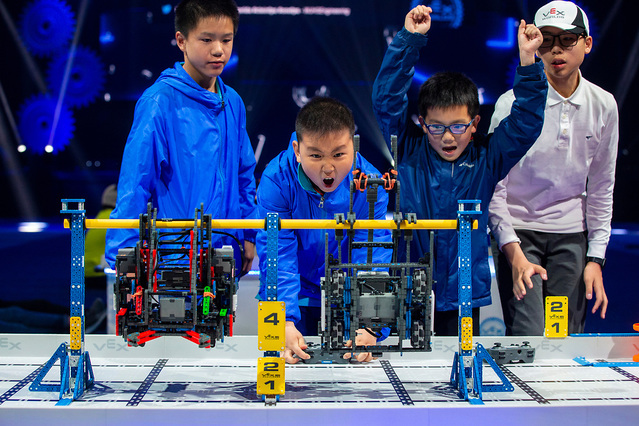 2019 VEX IQ機器人世錦賽比賽現場(由受訪者供圖)