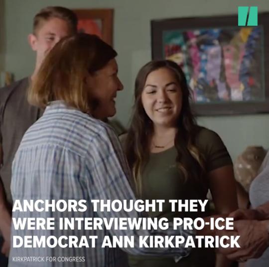 节目原本要请的嘉宾Ann Kirkpatrick是一位亲特朗普政策的民主党人