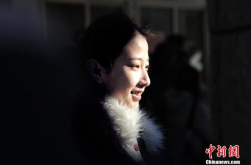 北京电影学院考生。中新网记者 李霈韵 摄