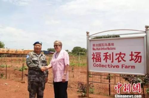 中国赴南苏丹维和部队农场。 曲培 摄