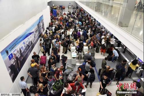 资料图片:美国洛杉矶国际机场。