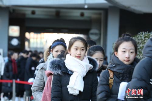 北京电影学院考生候考现场。北京电影学院供图