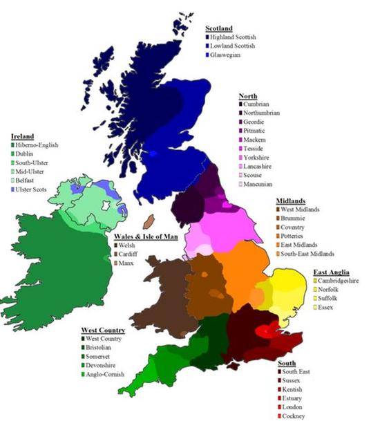 英国口音地图图片
