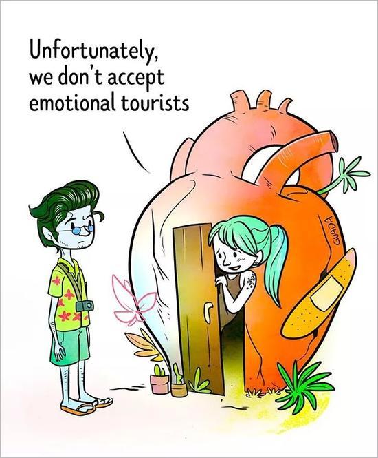 很不幸,我们不接待情绪化旅客。
