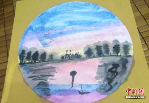 海明的美术作品 受访者供图