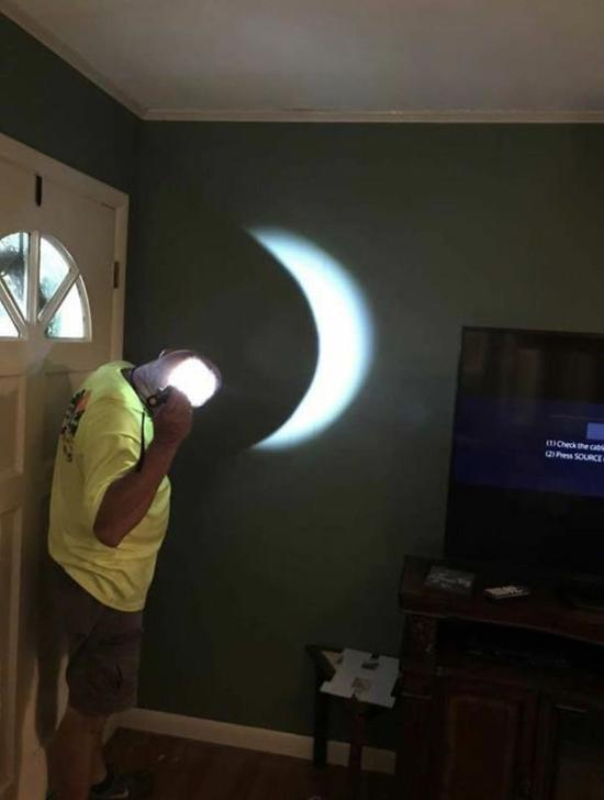 4. There Was A Storm During The Eclipse So He Improvised.