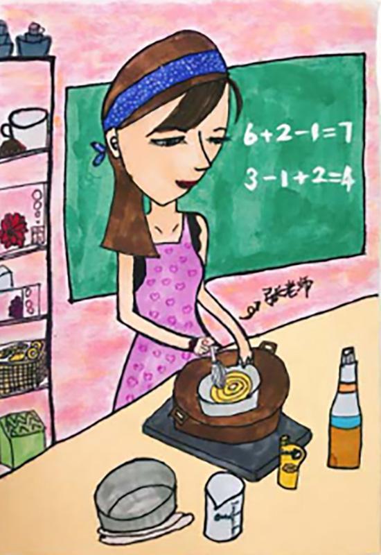 小学生用画笔描绘好老师刷屏:用文字记录师生情