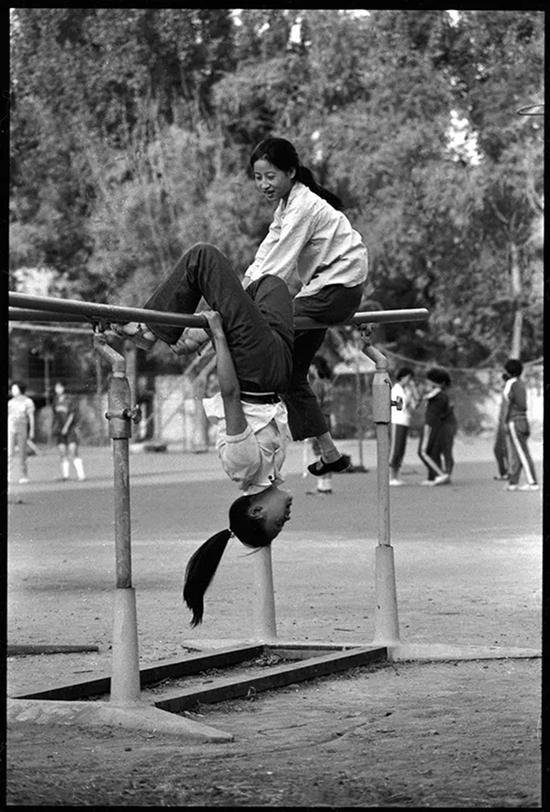 北京第一七一中学操场,1985年8月