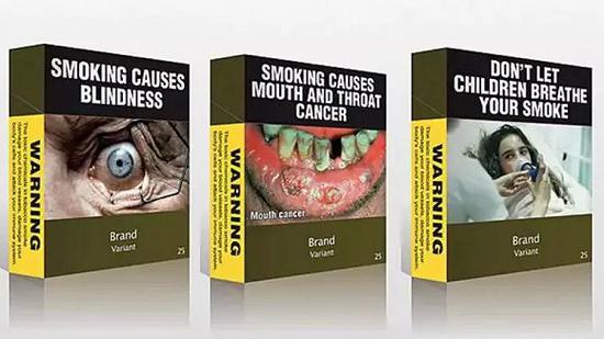(Juul Labs电子烟包装和传统香烟的包装对比)
