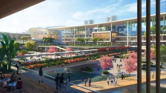 港科大(广州)校园的设计构思图。图片来源:香港科技大学官网