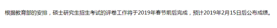 成绩预计2月15日前后公布。