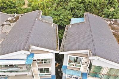 两栋居民楼震后碰到一起