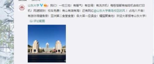 图为山东大学官方微博发布的招生信息。网络截图