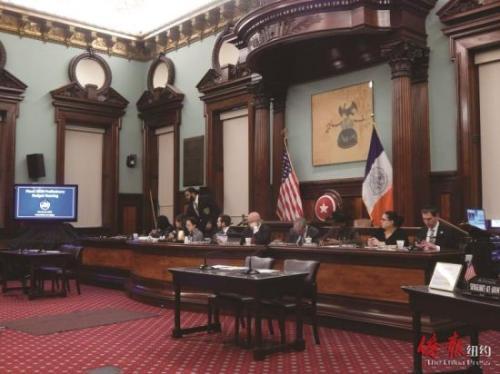 市议会老人委员会公听2020财年预算草案。(图片来源:侨报纽约网记者 尹英姿 摄)