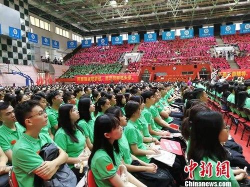 暨南大学举行2019年新生开学典礼。郭军 摄