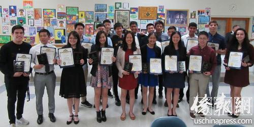 洛杉矶一高中20名学生获国家奖学金 大部分华裔