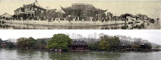 中国美院90年前后师生合影比对,完成时空对话。 中国美术学院