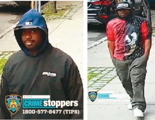 两名嫌疑人。(图片来源:美国《世界日报》纽约市警提供)