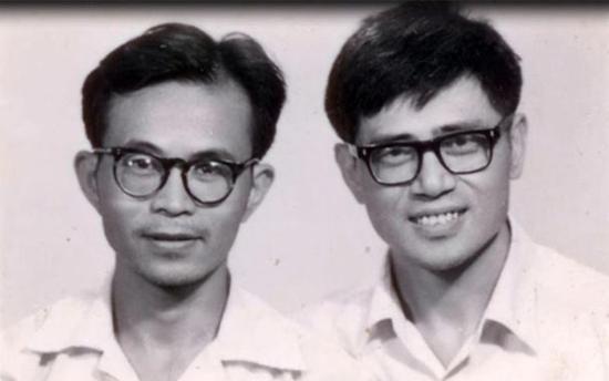 青年郑张尚芳(右)与潘悟云