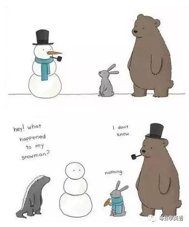 —Hey! What happened to my snowman?