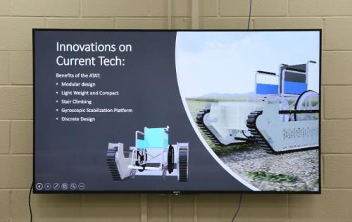 科技团队的设计模型。(美国《世界日报》记者张蕙燕/摄影)