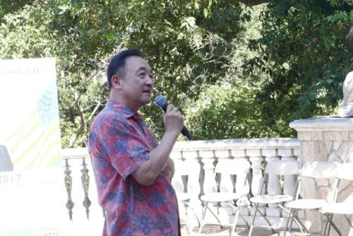 林元清曾鼓励圣玛利诺市华人出来投票。(美国《世界日报》记者李雪/摄影)
