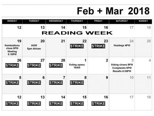 曾洁发来的罢工期间停课的时间表。(英国《华闻周刊》资料图)
