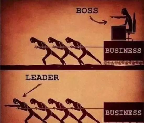 老板和领导者的区别。