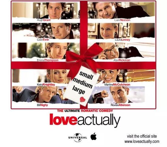 图片3:牛津校友柯特斯创作的英式贺岁戏剧《真爱至上》(Love Actually)