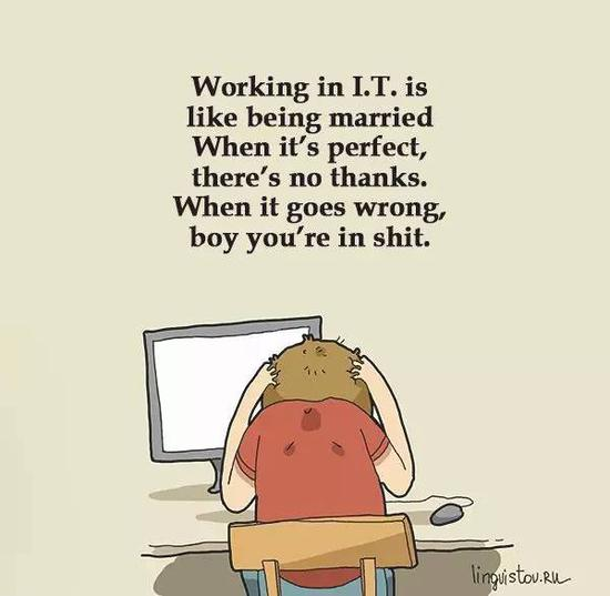 在IT圈混,跟结了婚是一样一样的